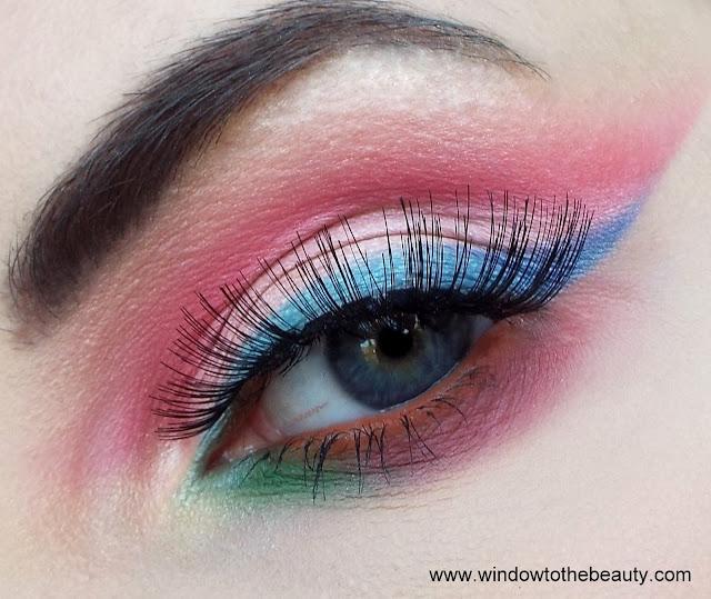 kolorowy neonowy makijaż