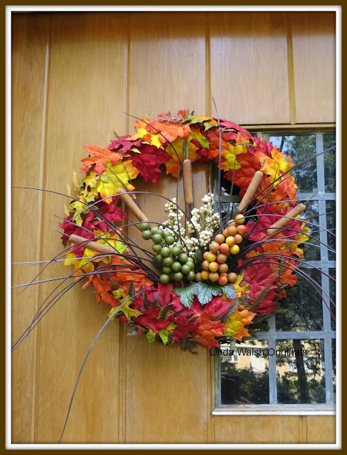 How To Make A Fall Silk Floral And Straw Front Door Wreath
