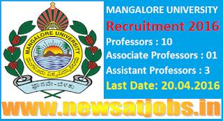 mangalore+university+recruitment+2016
