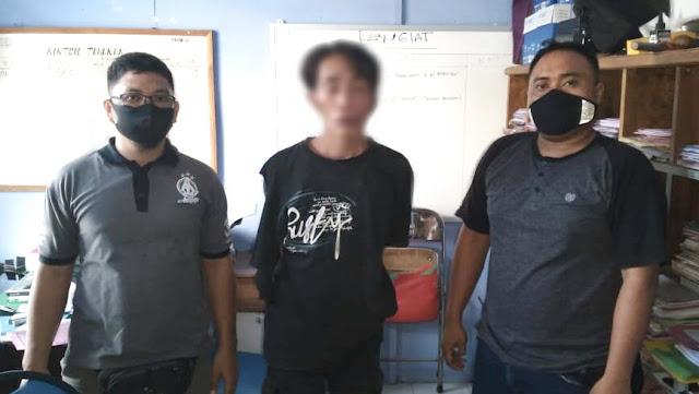 Apes, pencuri ini ditangkap Polisi saat sembunyi di sekolah