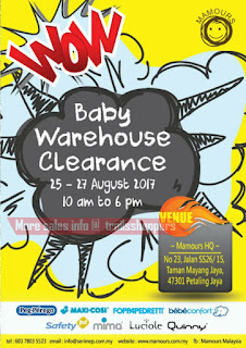 Mamours Baby Warehouse Clearance 2017