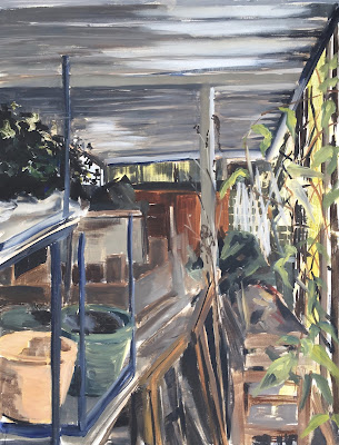 """Gardening shed"", plein air painting by Philine van der Vegte"