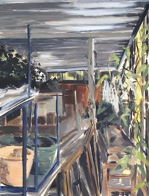 """""""Gardening shed"""", plein air painting by Philine van der Vegte"""