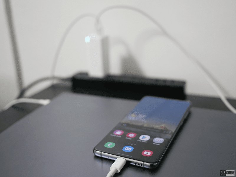 I use it to charge our Samsung Galaxy S20+ as well