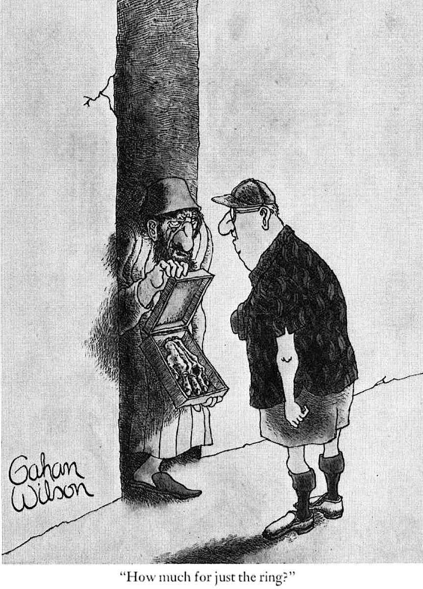 a Gahan Wilson cartoon about illicit sales to tourists