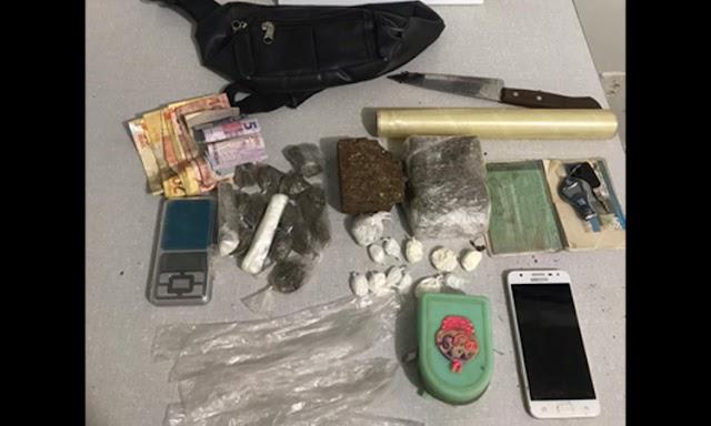 Polícia Militar apreende drogas em Livramento de Nossa Senhora