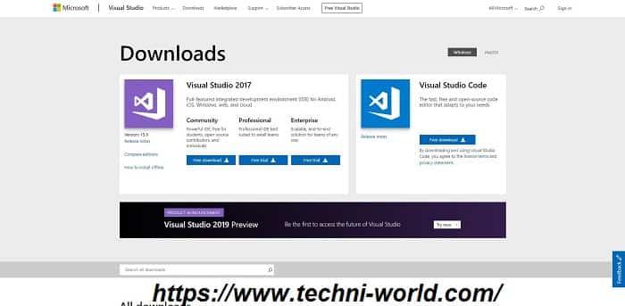 قم بتنزيل Visual Studio 2019 ISO دون اتصال بالإنترنت