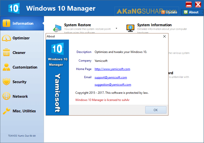 Free Download Windows 10 Manager Final Full Version, Windows 10 Manager Full Serial Number, Yamicsoft Windows 10 Manager Full Plus Keygen, Gratis Download Windows 10 Manager Full Crack Terbaru, Windows 10 Manager Activation Key, Windows 10 Manager Registration Code, Windows 10 Manager License Key