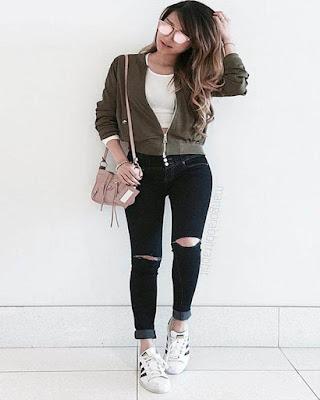 outfit casual juvenil blanco y negro tumblr de moda