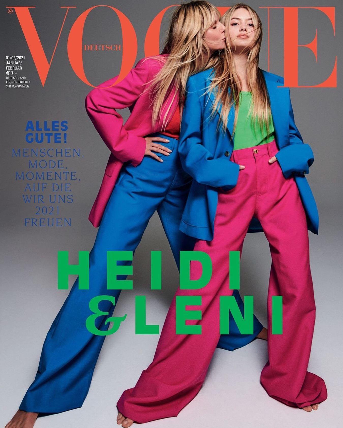 Heidi Klum & Leni Klum for Vogue Germany January 2021