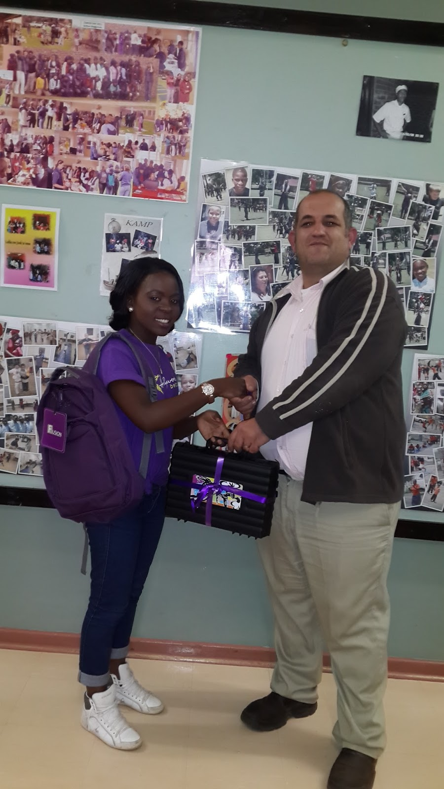 Hollywoodbets Nelspruit donated school bags to SAVF Belfast Children's Home