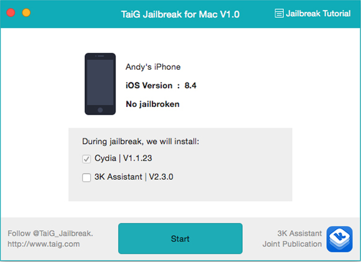 Untethered TaiG Jailbreak Tool for iOS 8.4 [Mac OS X version] Released