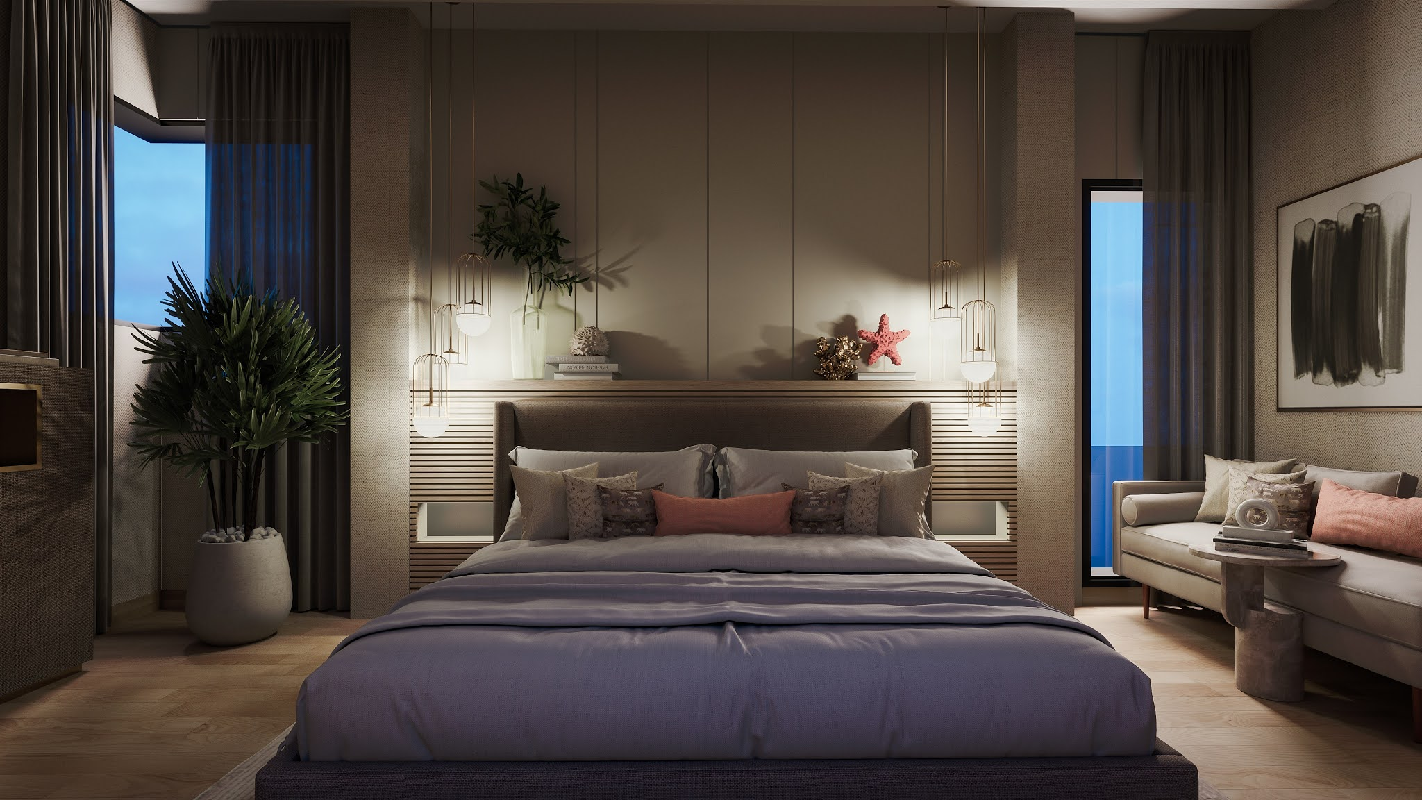 desain interior kamar tidur utama ukuran