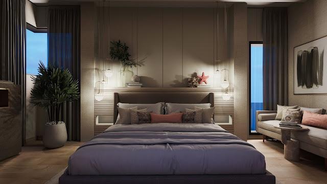 Desain Interior Kamar Tidur Utama Ukuran 4x4