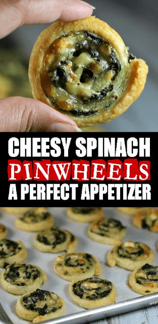 CHEESY SPINACH #PINWHEELS