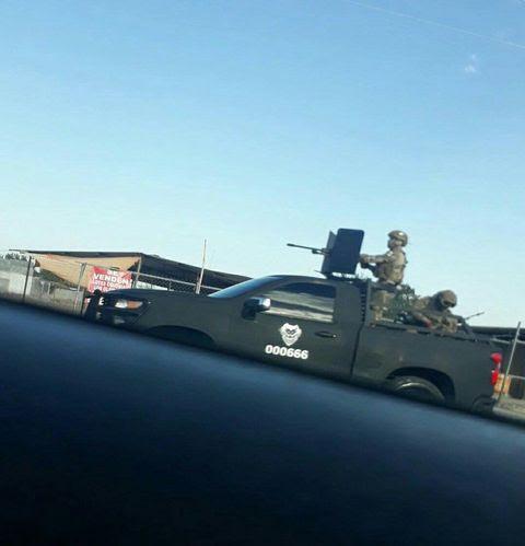 """En Nuevo Laredo reaparece """"El Tory"""" jefe del Cártel del Noreste iban camionetas artilladas del 666 con Sicarios vestidos de Marinos"""