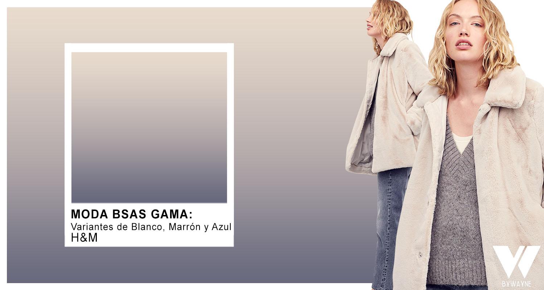Blanco marron y azul combinaciones de colores moda invierno 2021
