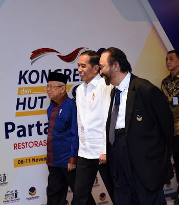 Presiden Jokowi Apresiasi Dukungan Konsisten Partai Nasdem kepada Pemerintah