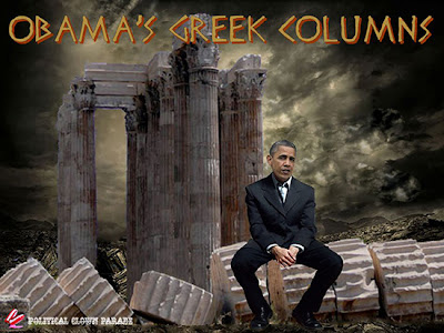 Image result for obama's greek columns cartoons