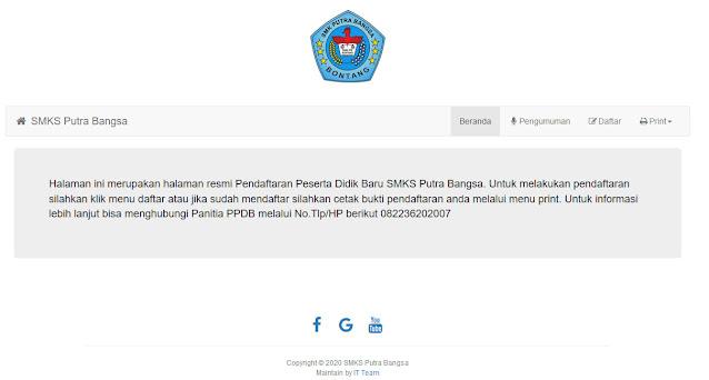 Halaman depan PPDB