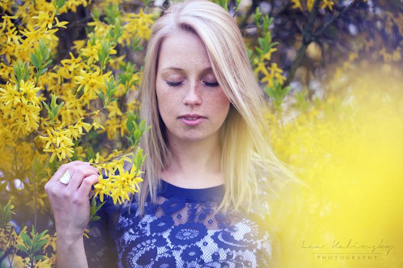 emotionales Portrait mit Blumen