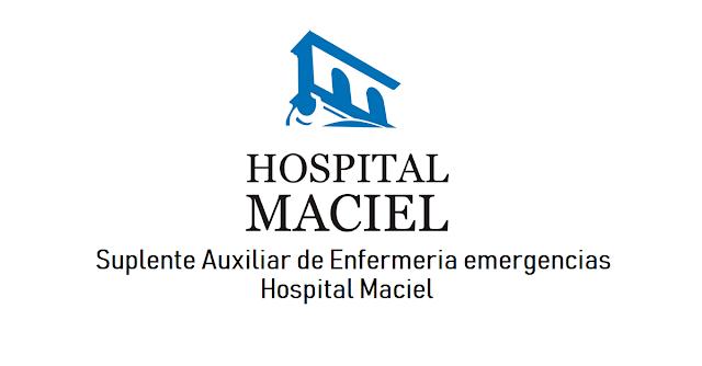 Suplente Auxiliar de Enfermería Emergencias - Hospital Maciel