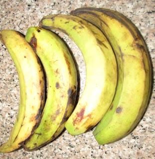 Unripe plantain for moin moin