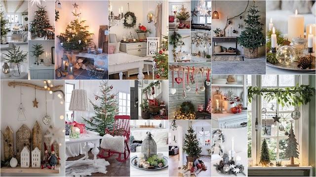 Χριστουγεννιάτικη διακόσμηση σε Σκανδιναβικό  ύφος