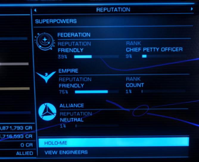 Elite Dangerous: New Pilot's Guide and Advice: Ranking Up