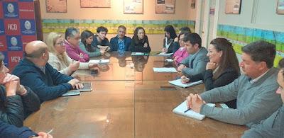 Reunión de comisión del Concejo Deliberante de Necochea