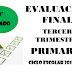 Evaluación Tercer Trimestre 2° Primaria Ciclo Escolar 2018-2019.