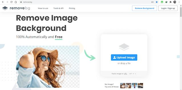 Remove Background Online dari Foto menjadi Merah atau Biru ONLINE dengan remove bg - background biru dan background merah