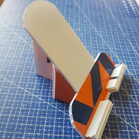 I made a horizontal / vertical cell phone holder. It will be perfect for instructional videos while making repairs or recipes while cooking.  - Coroplast DIY - CoroplastCreations.com - photos by: HalifaxSportsPhotos.ca