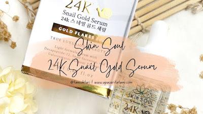 [REVIEW] Skin Soul 24K Snail Gold Serum By Amanda Manopo