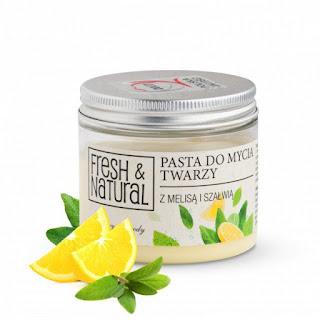 Fresh Natural  pasta do mycia twarzy melisa szałwia