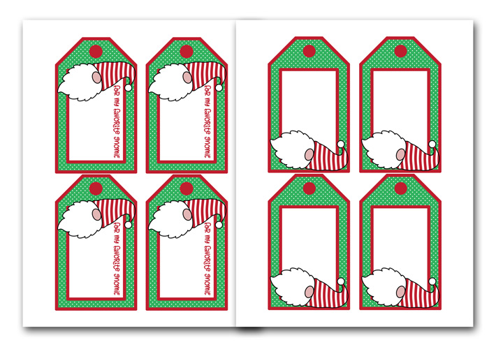Free Gnome Printables for Christmas