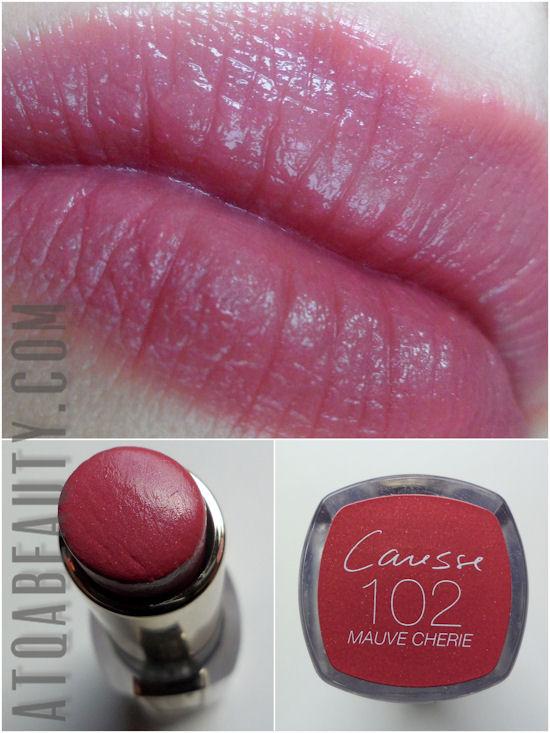 L'Oréal Rouge Caresse 102 Mauvie Cherie