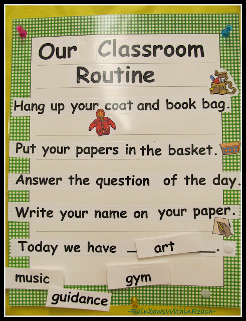 photo of: Classroom Routine Poster (Organize your Day)