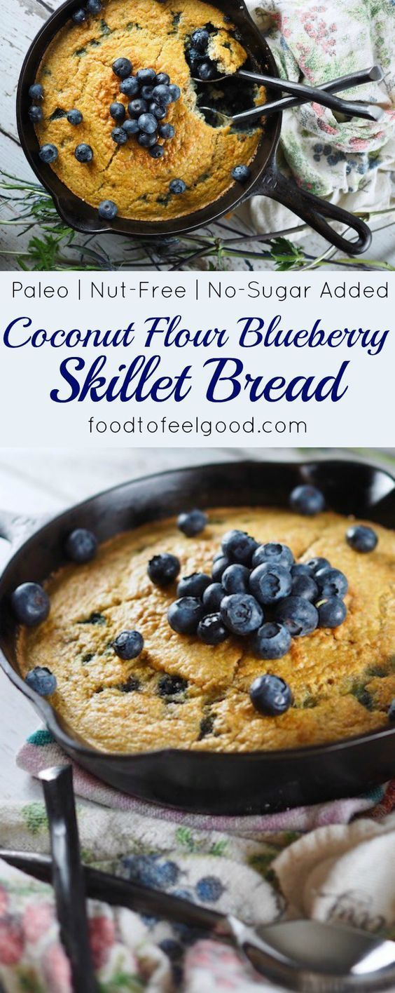 COCONUT FLOUR BLUEBERRY SKILLET BREAD