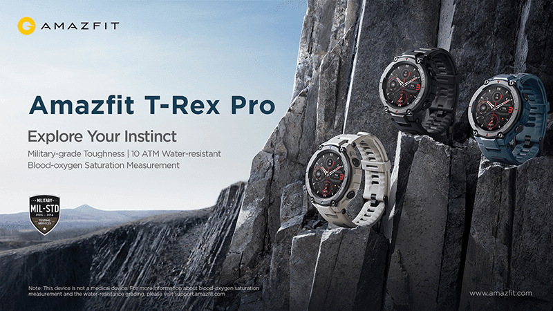 Amazfit T-Rex Pro pre-orders start on September 1