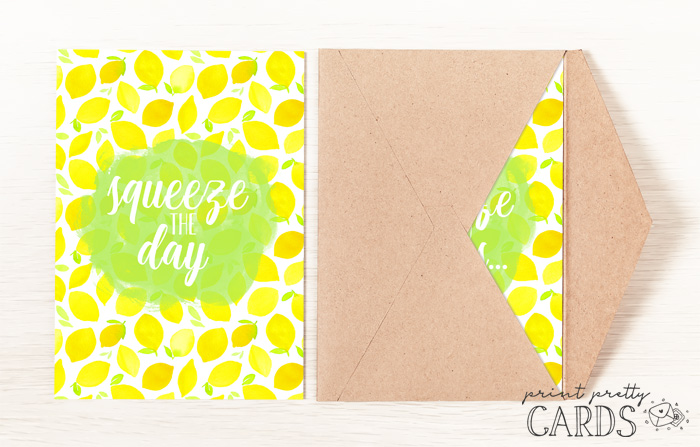 Printable Squeeze the Day Card