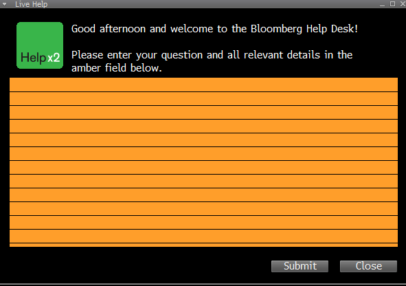It Will Bring Up The Relevant Help For Wherever You Are In Bloomberg If Really Stuck Type Twice That Live