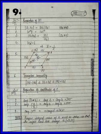 iitjee notes on complex number 10