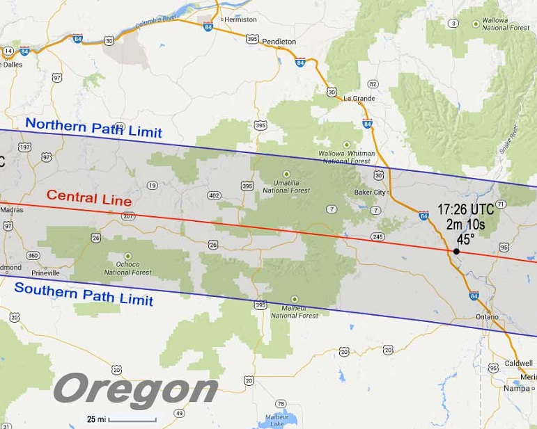 Solar Eclipse Viewing On Public Lands In Eastern Oregon - Eastern oregon map
