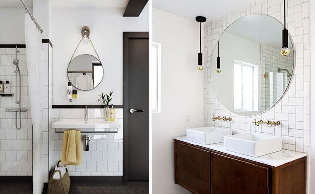 Espejos redondos para el cuarto de ba o for Espejos de bano vintage