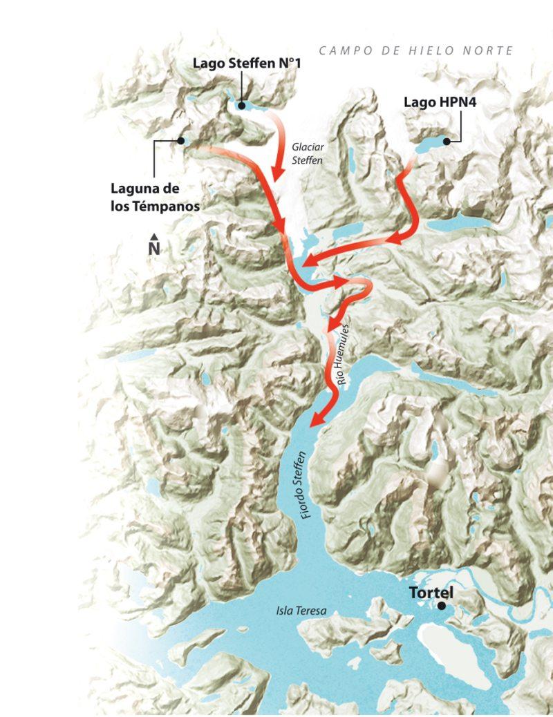 Alerta en Tortel por dos lagos y una laguna que pueden vaciarse