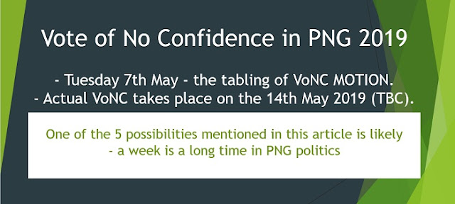 Vote of No Confidence PNG 2019