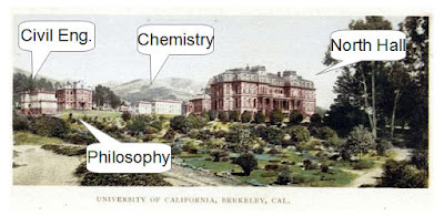 Annotated University of California, Berkeley postcard from NYPL
