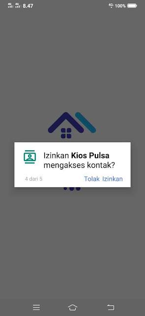Izinkan Kios Pulsa mengakses kontak