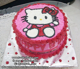 Hello Kitty Buttercream Cake Untuk Ulang Tahun